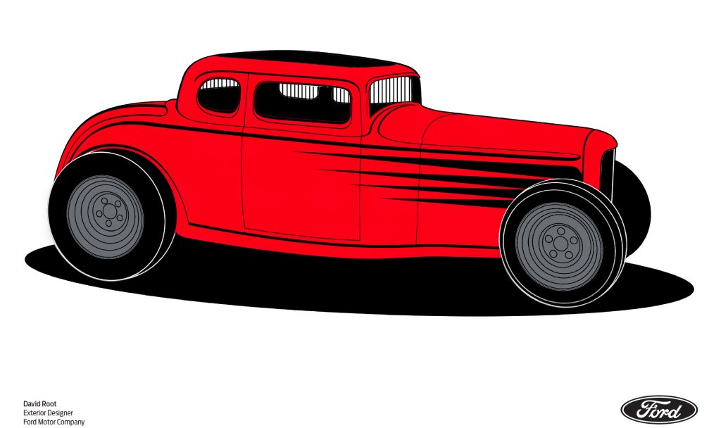 1932 Ford five-window coloring page 2