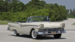 1957 Ford Fairlane 500 Sunliner Front Three-Quarter