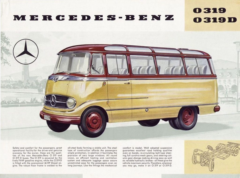 1957 Mercedes-Benz O319 brochure image