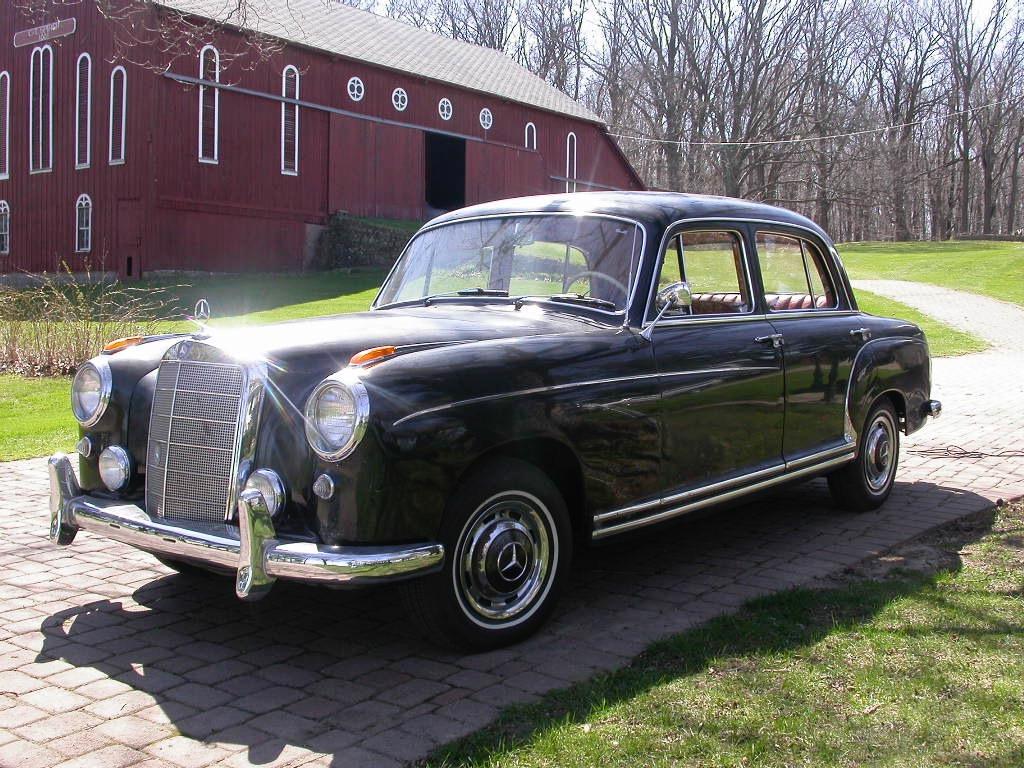 1958 mercedes benz 180 front three quarter driveway