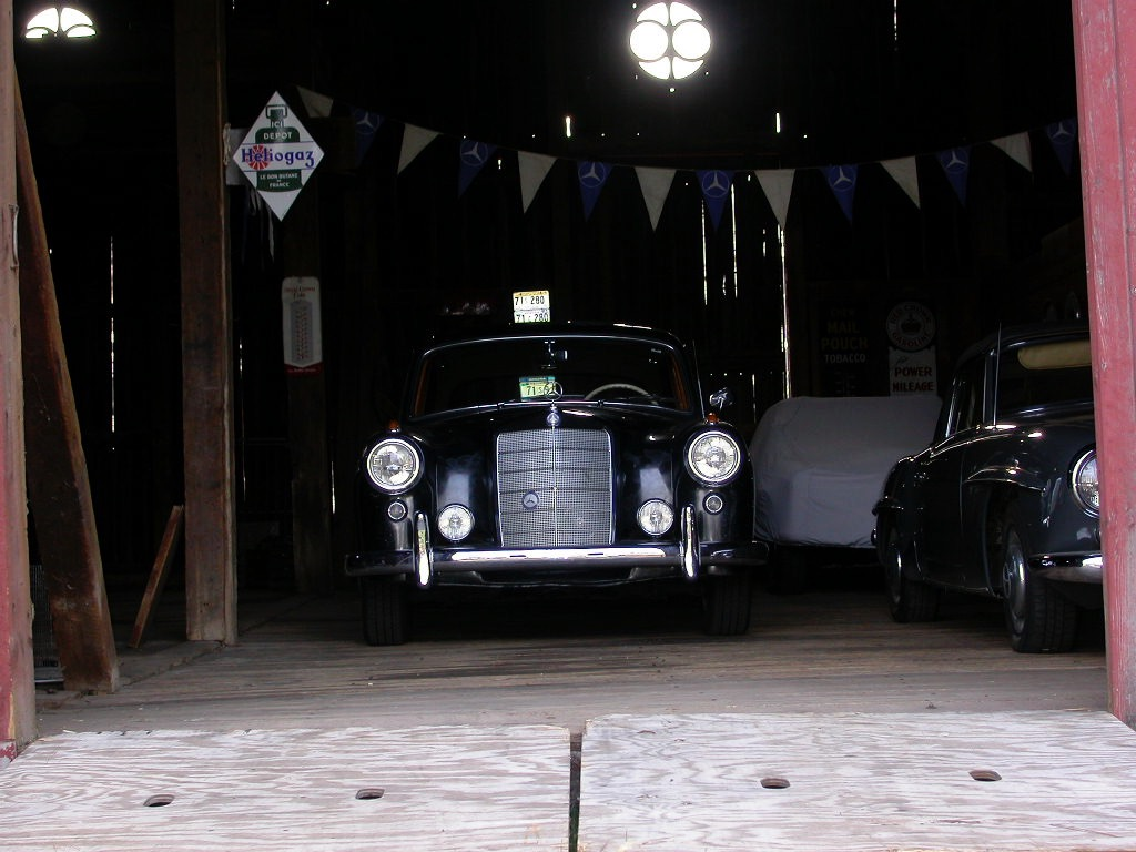 1958 mercedes benz 180 front garage