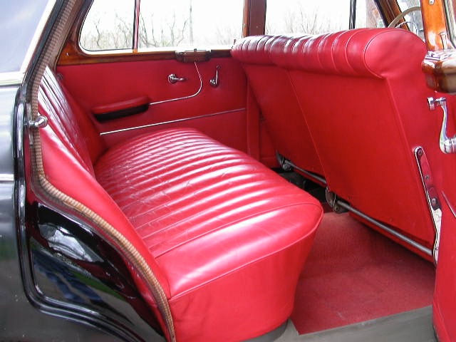 1958 mercedes benz 180 red interior back seat