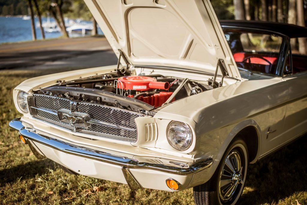 1965 Mustang Convertible Engine Bay