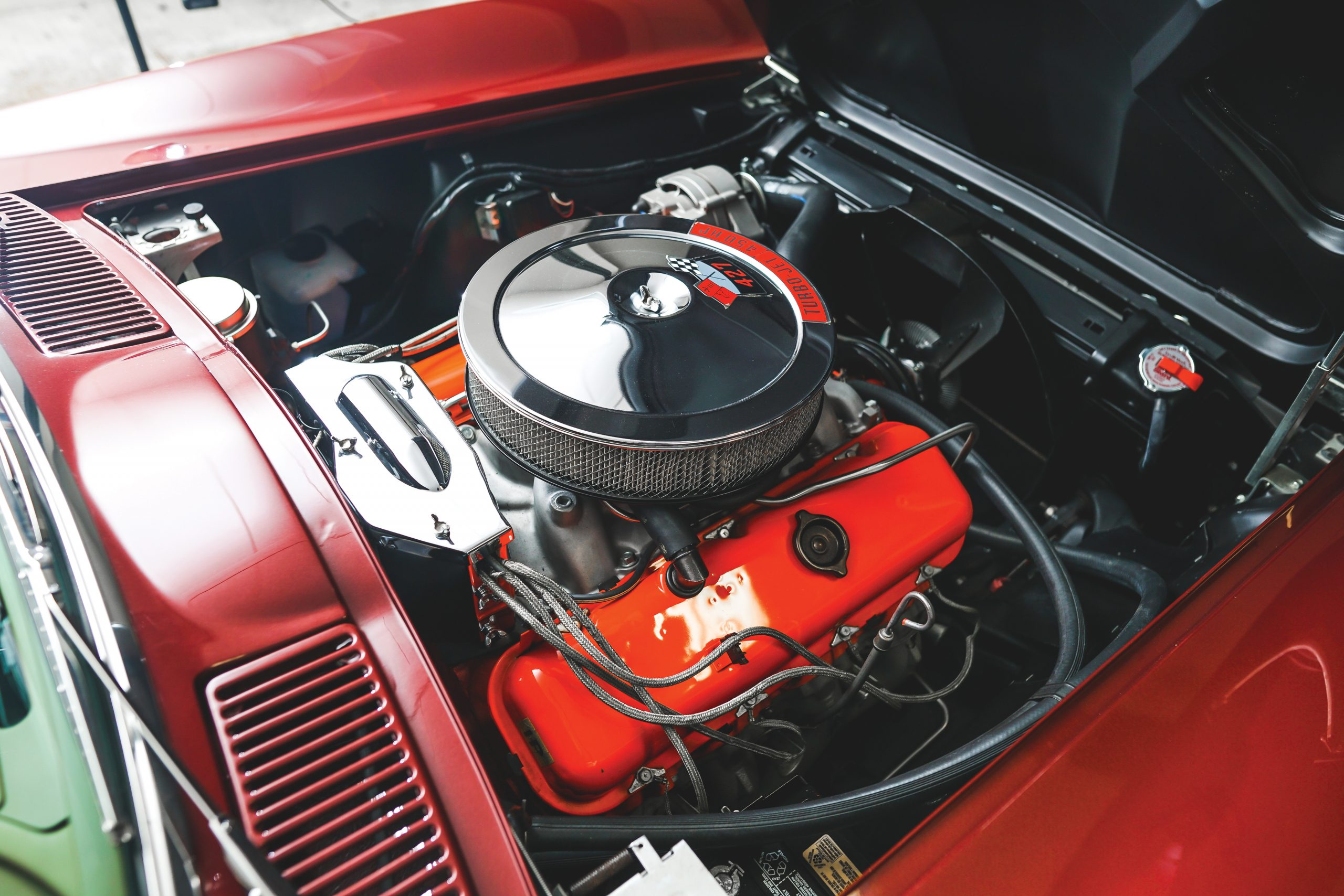 1966 Chevrolet Corvette Sting Ray 427 450 Convertible Engine