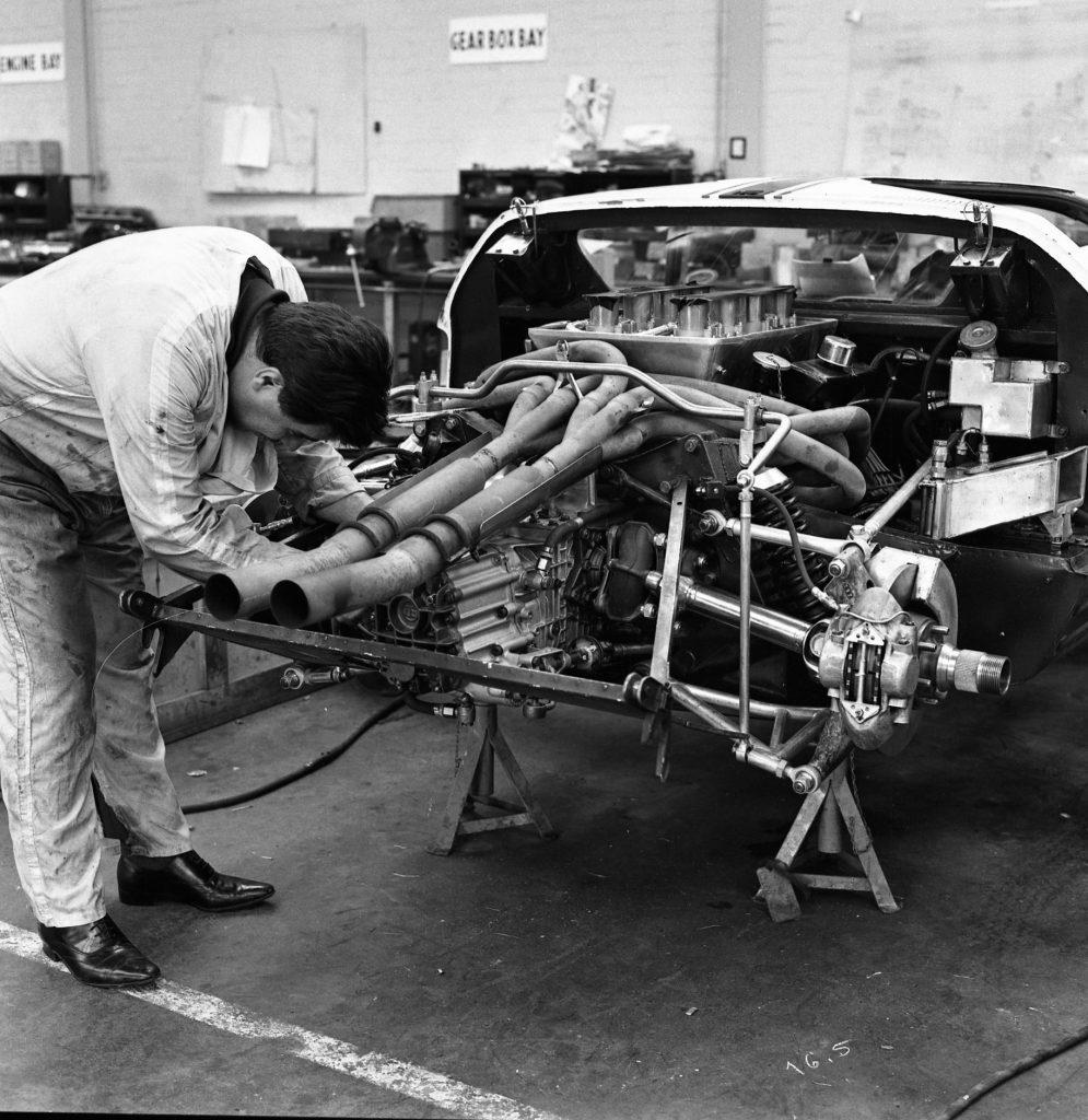 Ford GT40 Mk II Engineer at work