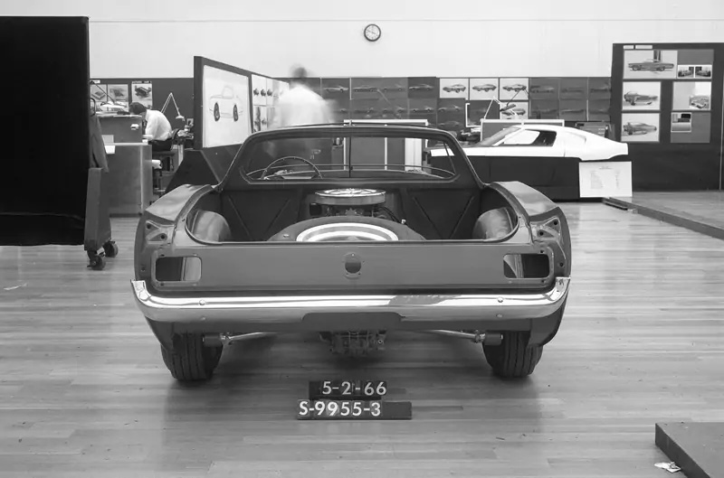 1966 mid engine mustang protype rear concept