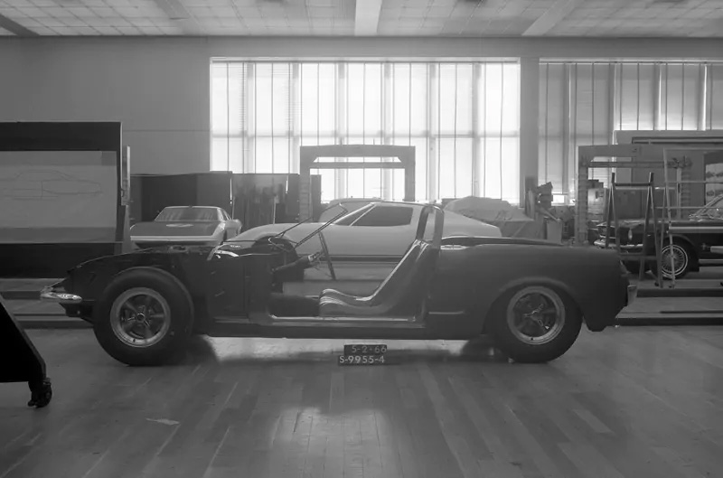 1966 mid engine mustang protype side concept