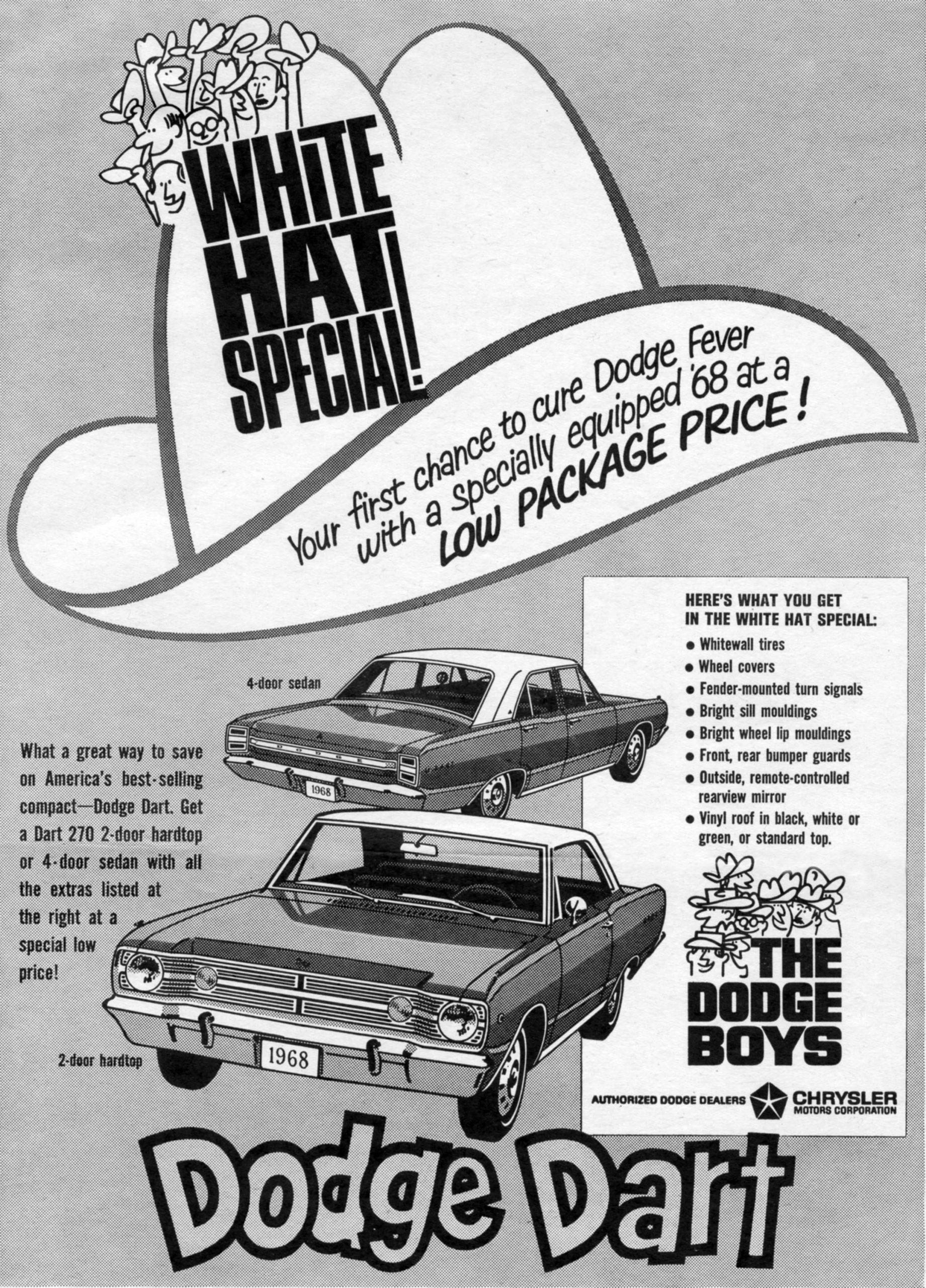 1968 Dodge Dart Vintage Car Ad