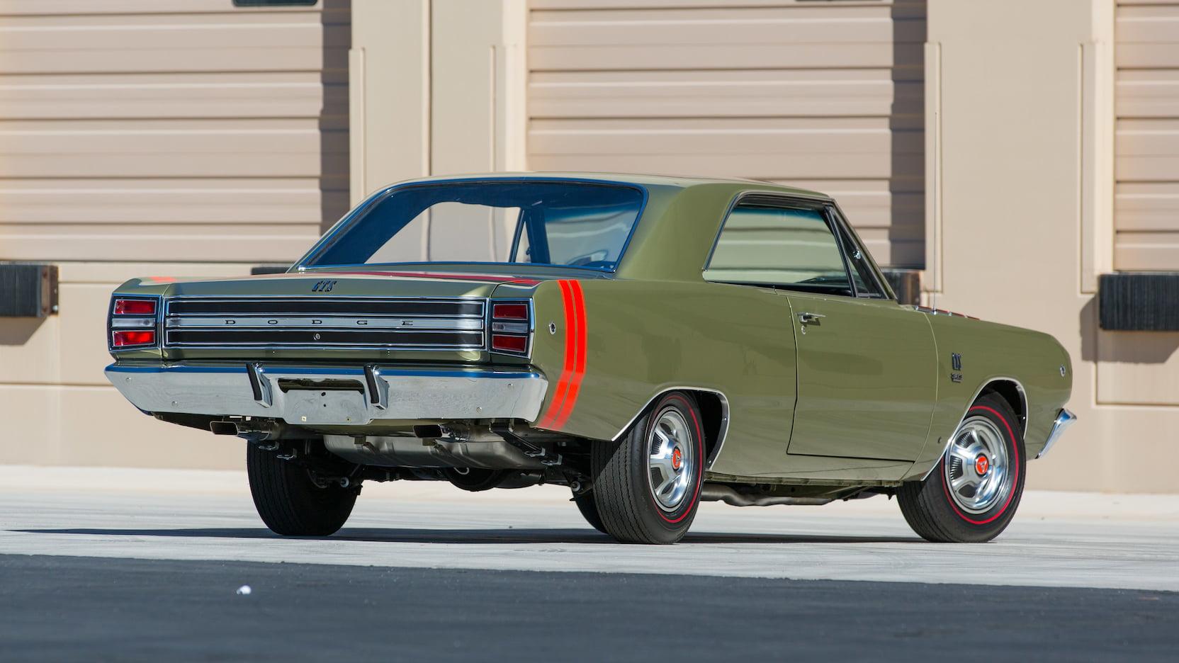 1968 Dodge Dart GTS Rear Three-Quarter