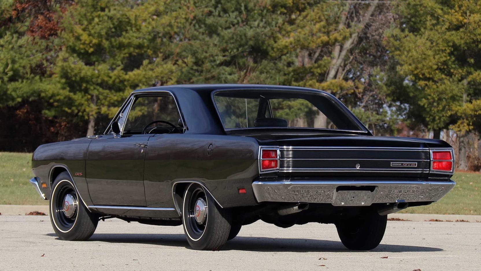 1969 Dodge Dart GTS Rear Three-Quarter