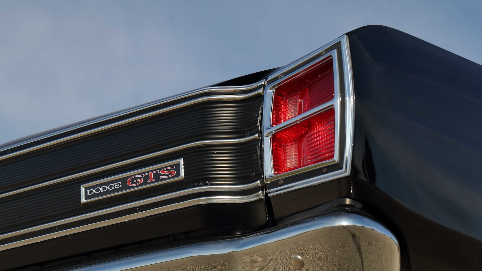 1969 Dodge Dart GTS Rear Taillight and GTS Badge