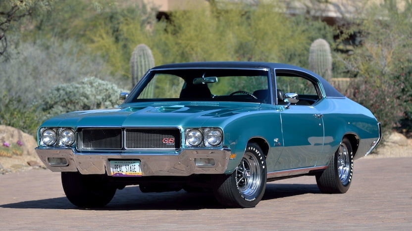 1970 Buick GS Stage 1 front three quarter Mecum