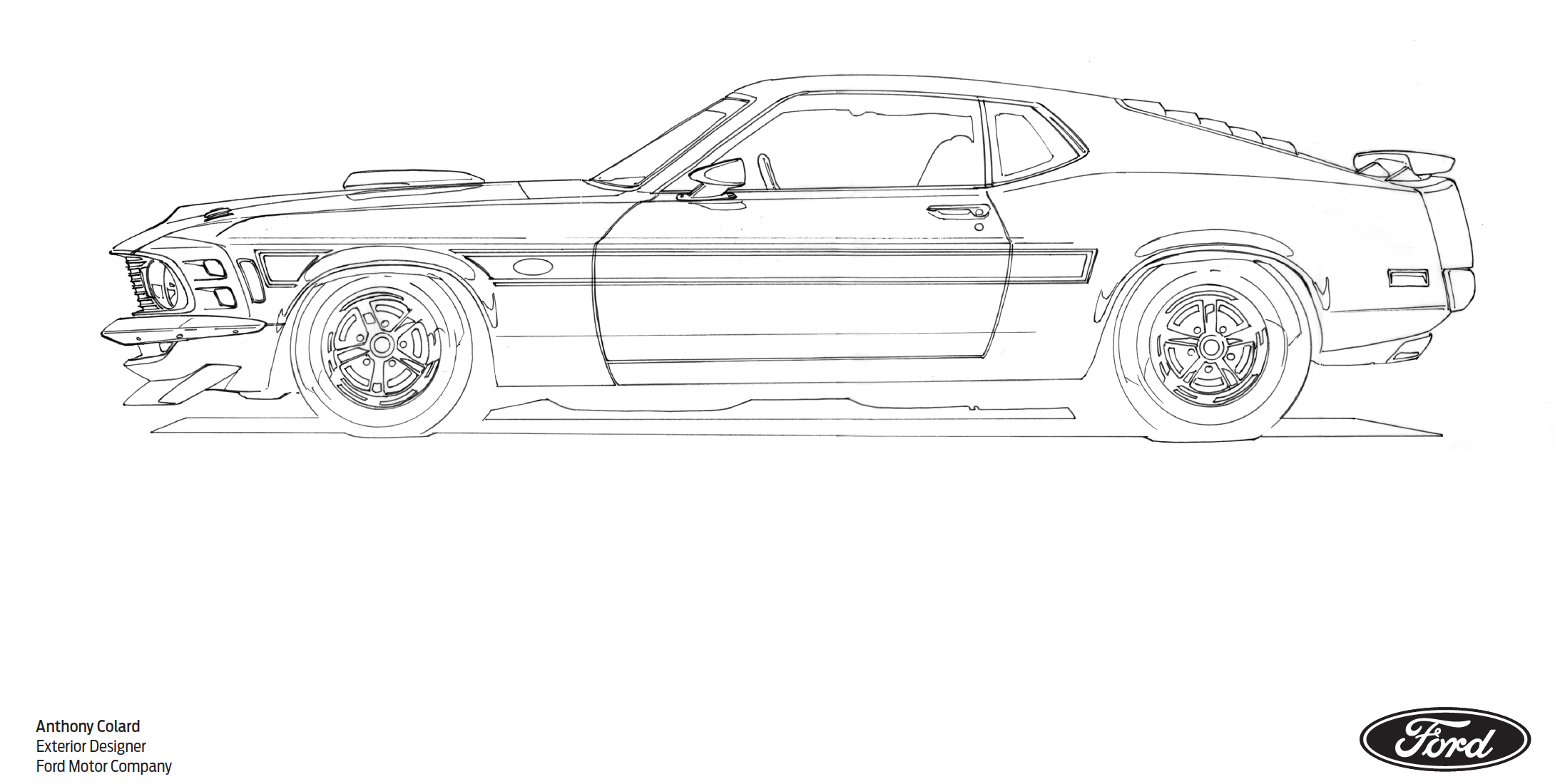 1970 Mustang Mach 1 coloring page