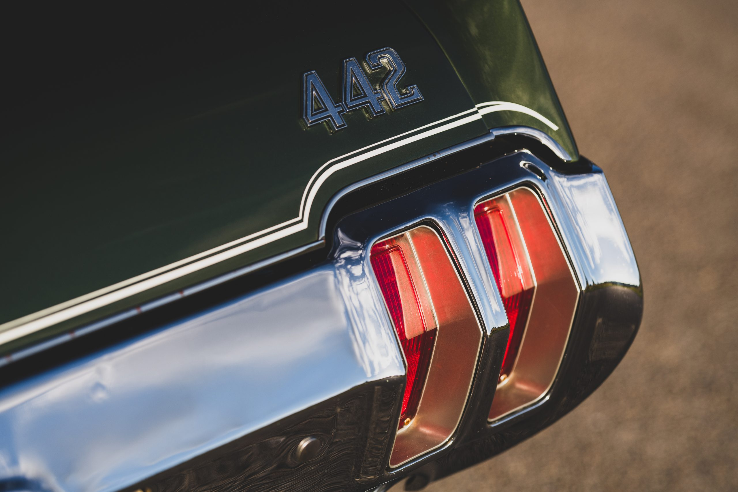 1970 Oldsmobile 442 Convertible Taillight and Badge