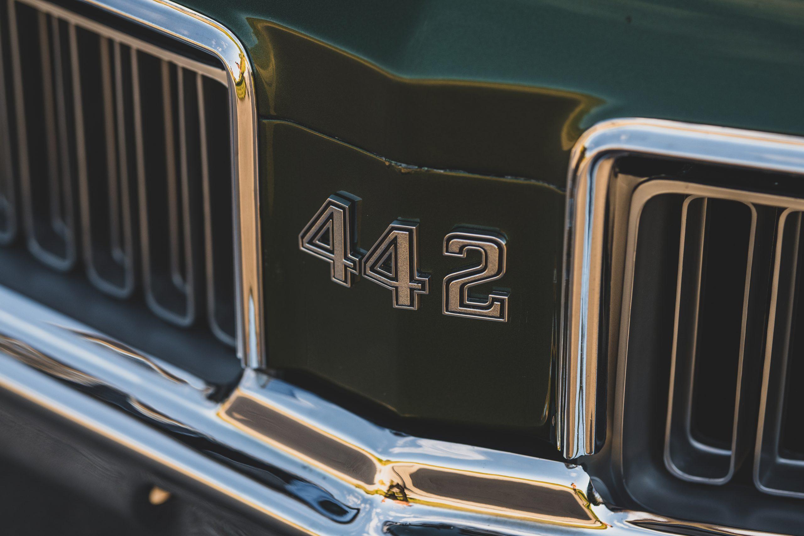 1970 Oldsmobile 442 Convertible Front Badge Emblem