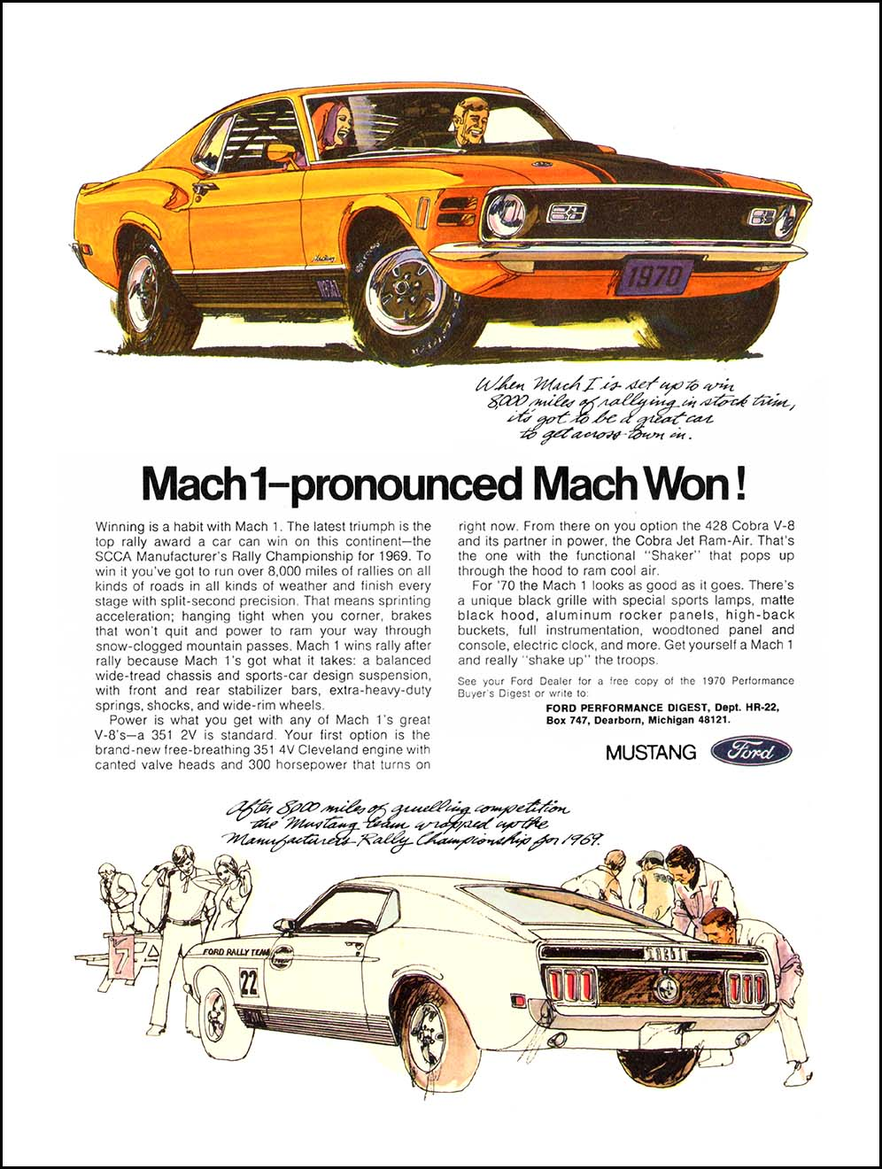 1966 ford mustang mach 1 advertisement