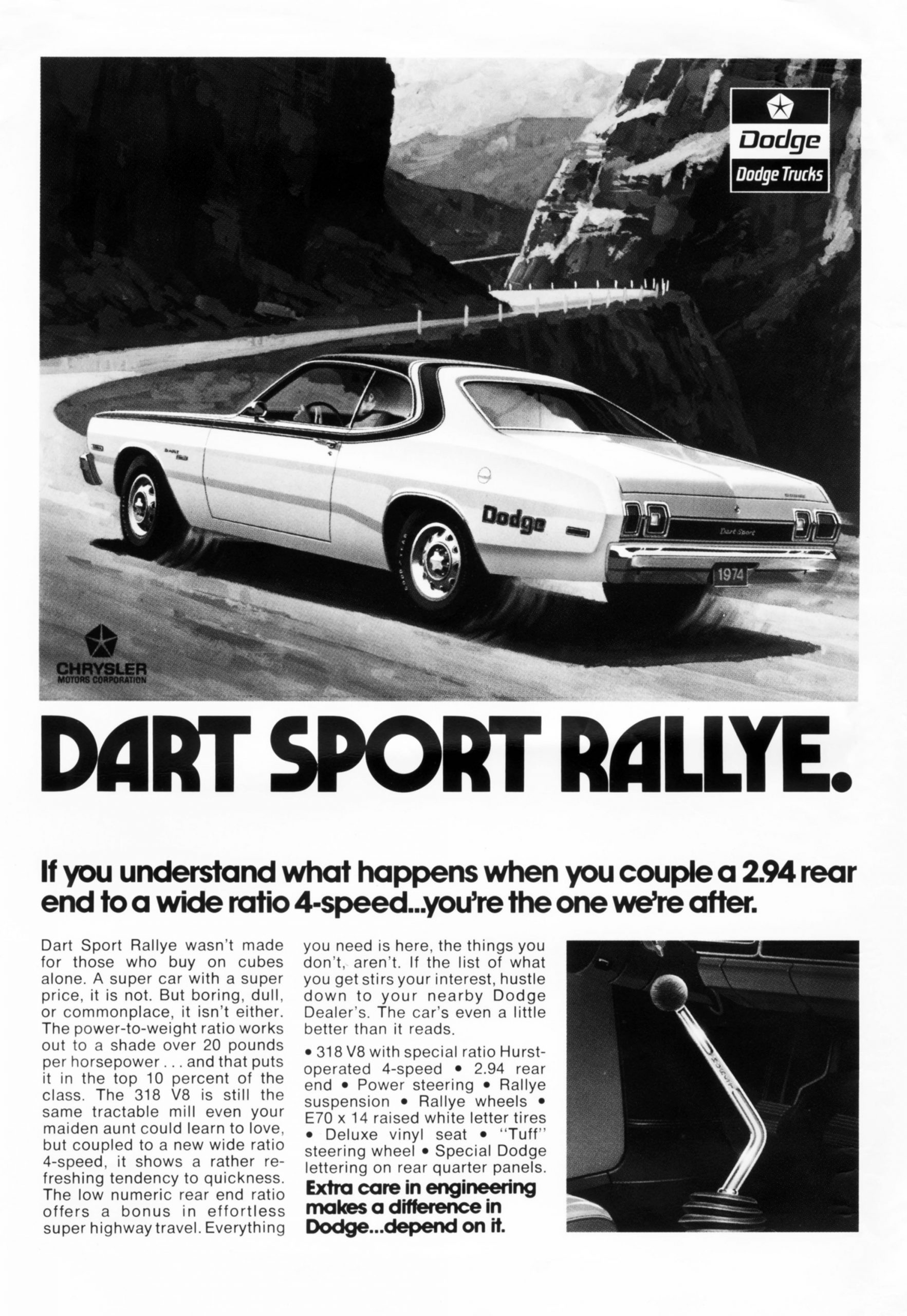 1974 Dodge Dart Sport Rallye Advertisement