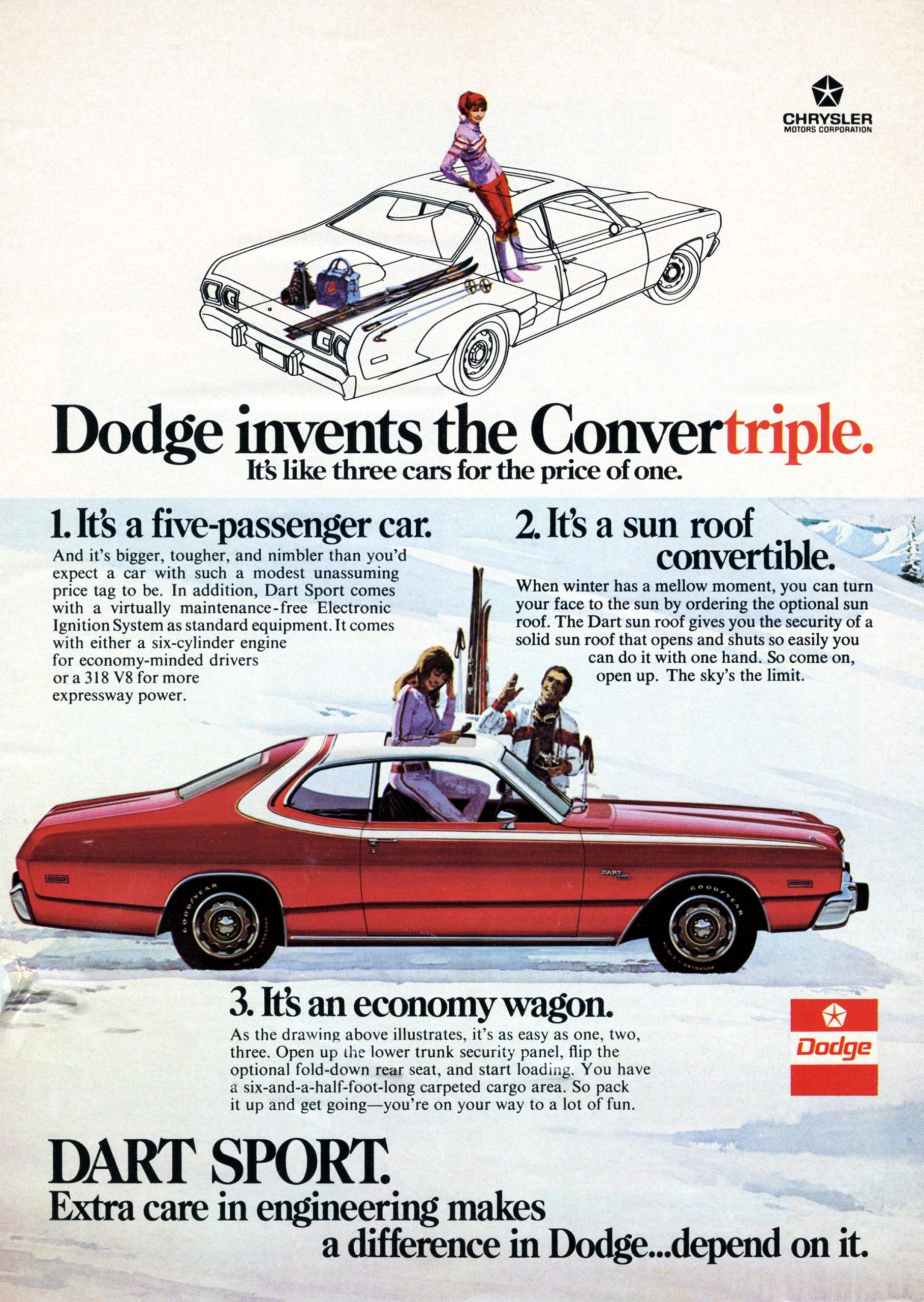 1976 Dodge Dart Sport Advertisement