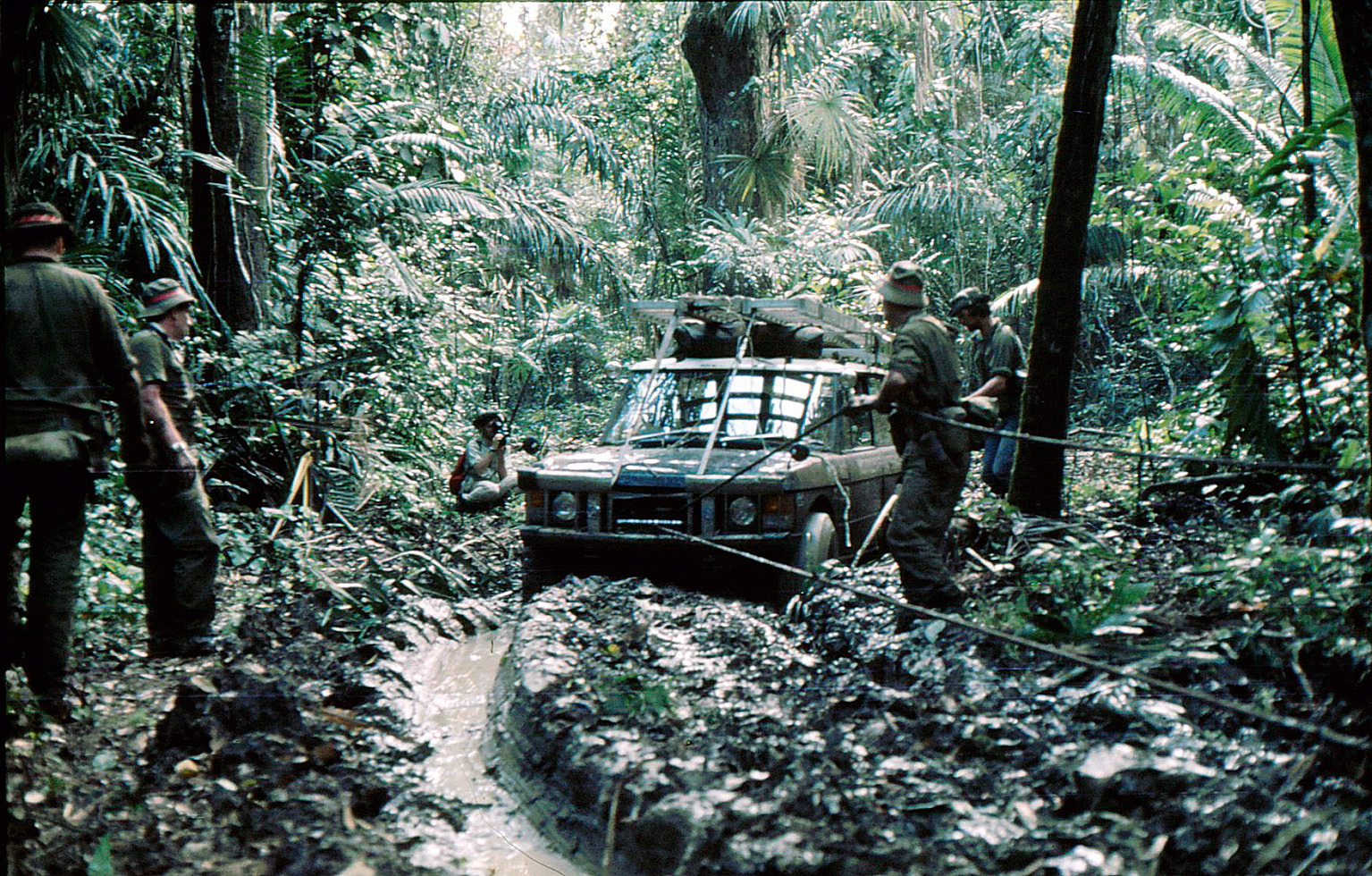 1972 land rover range rover darien gap jungle mud