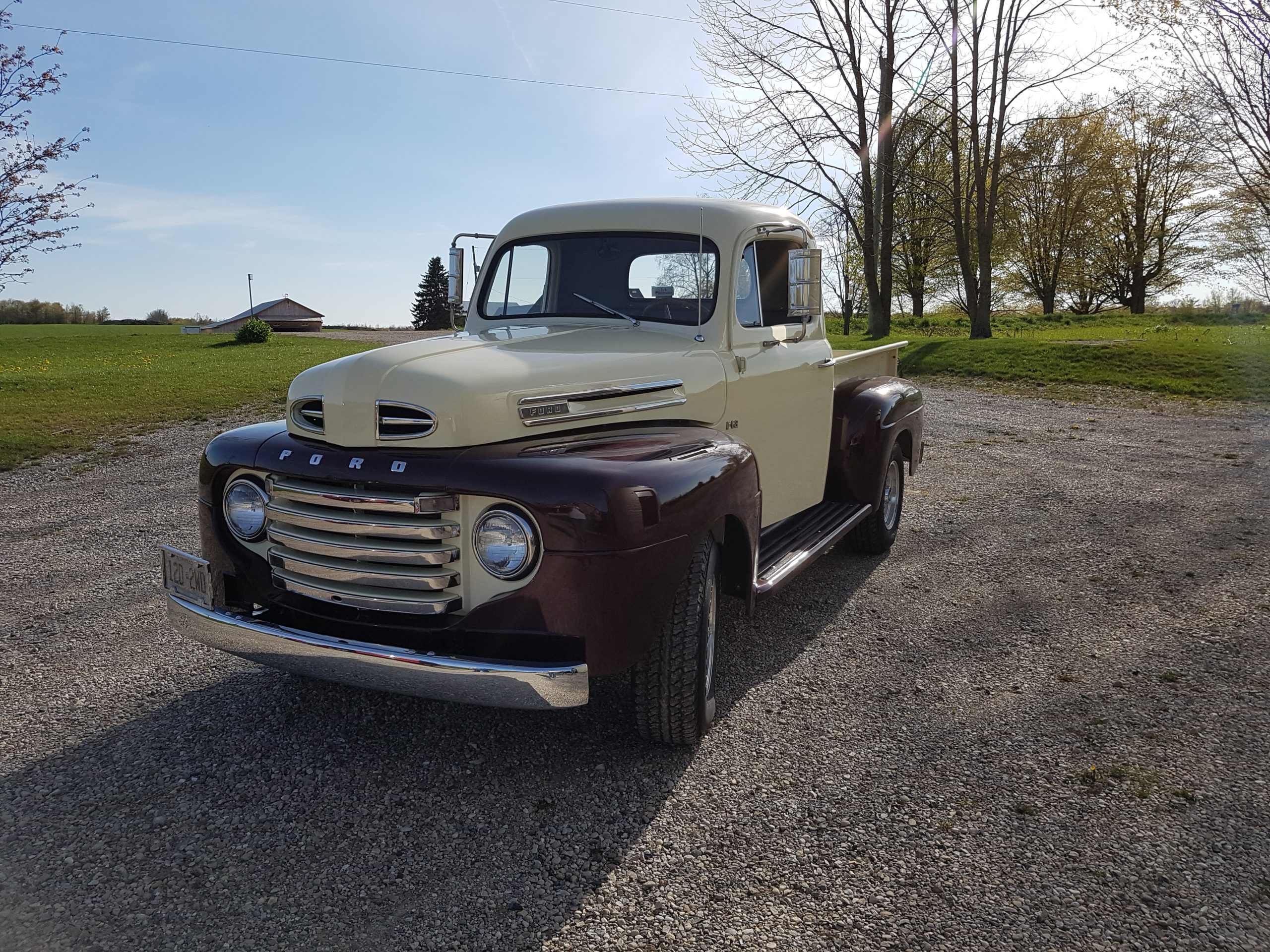 1949 Ford F47 front three quarter outside