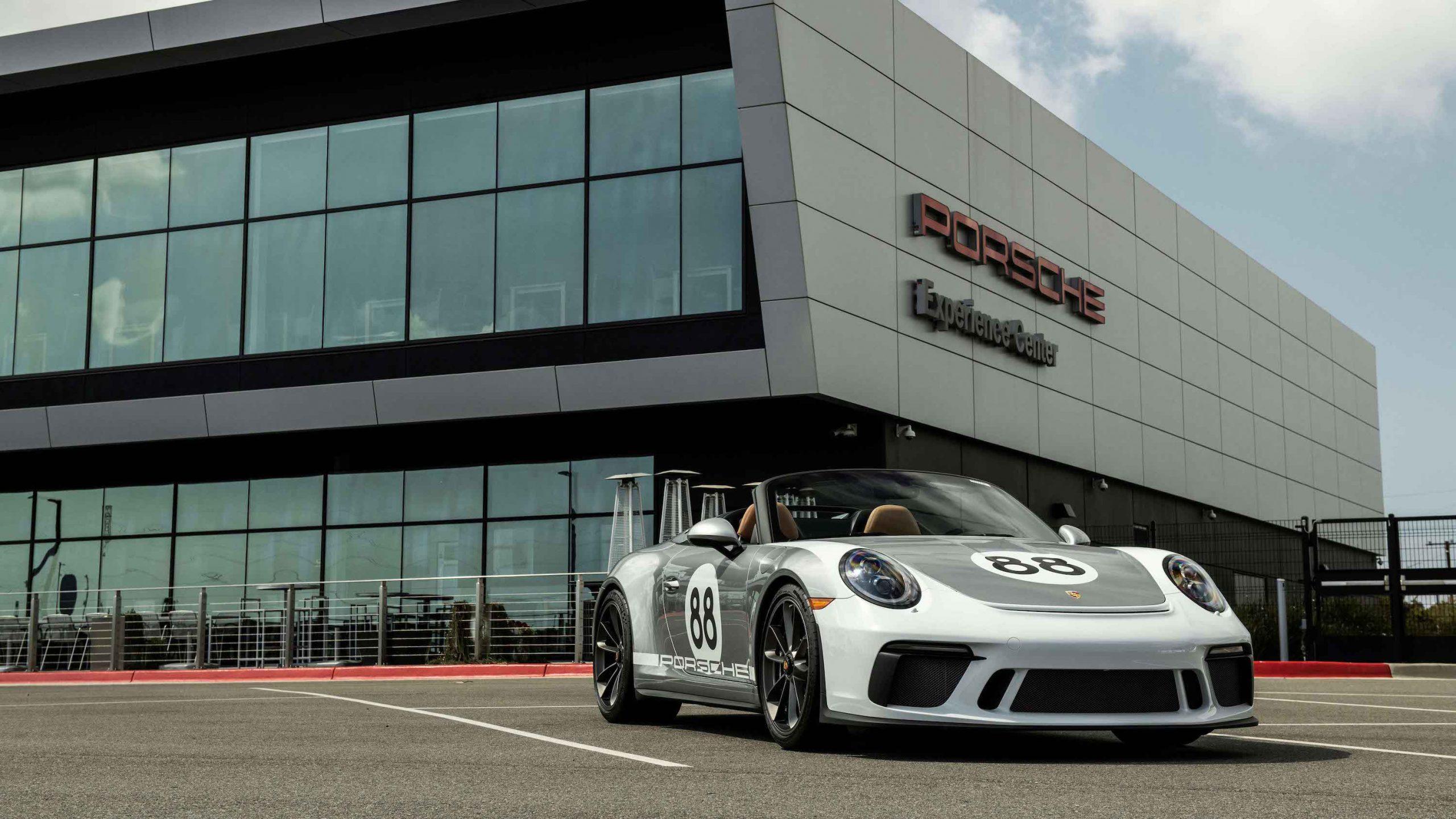 2019 Porsche 911 Speedster Heritage Design Front Three-Quarter at Experience Center