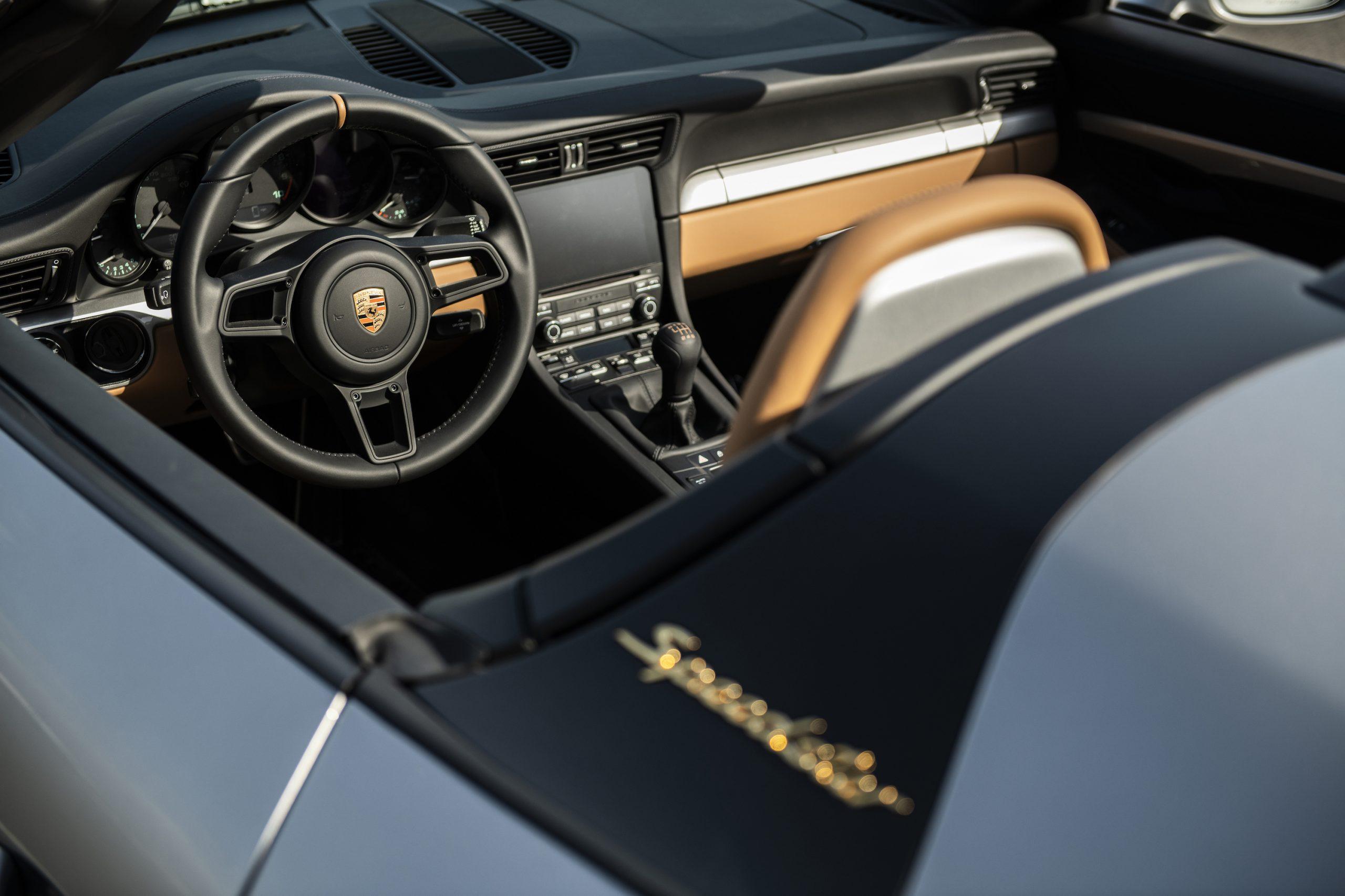 2019 Porsche 911 Speedster Heritage Design Interior Dash