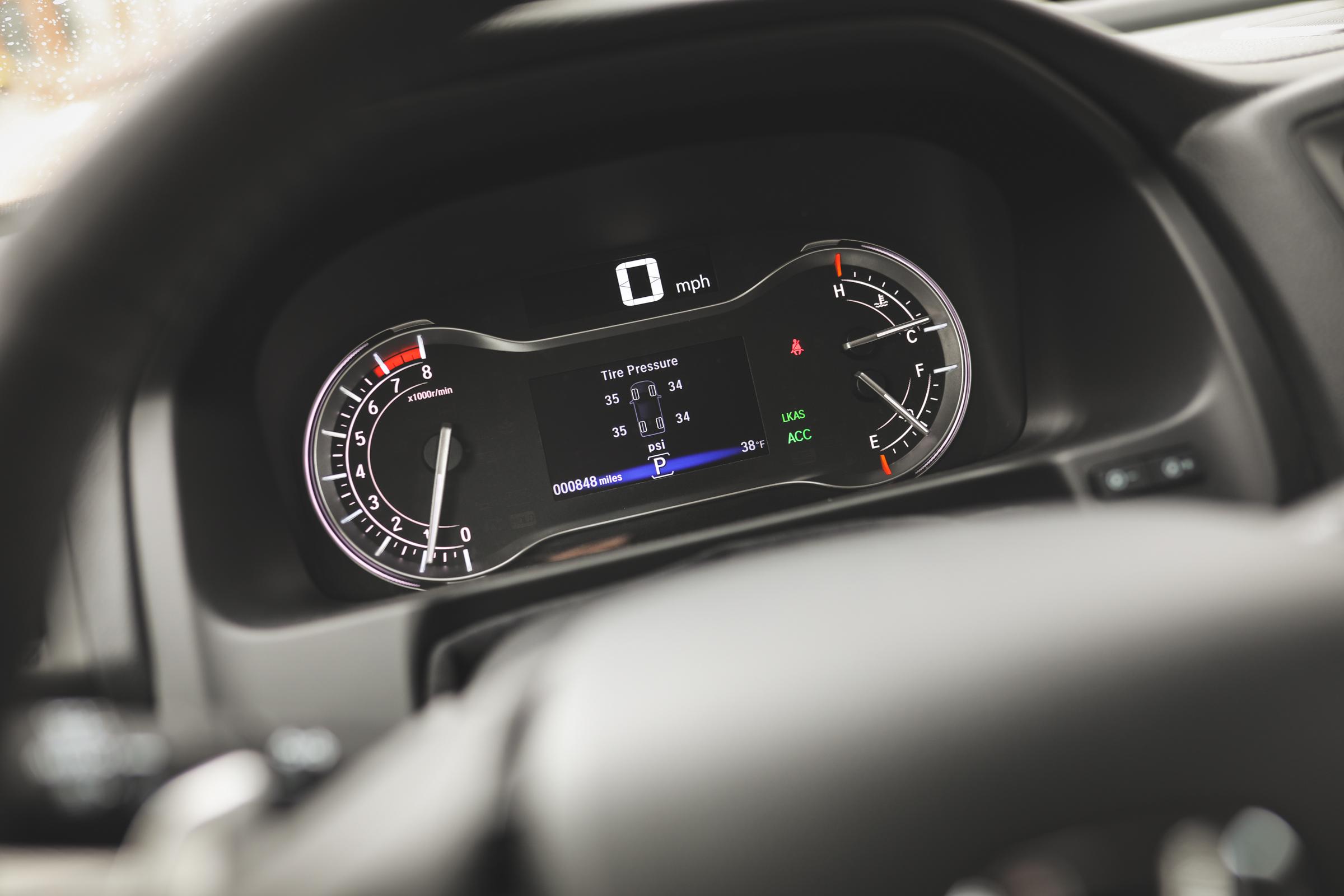 2020 Honda Ridgeline RTL-E dashboard