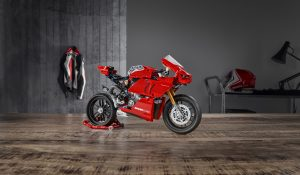 Ducati Panigale V4 R Lego Technic on table