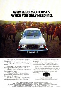1977 volvo 264 gl sedan ad