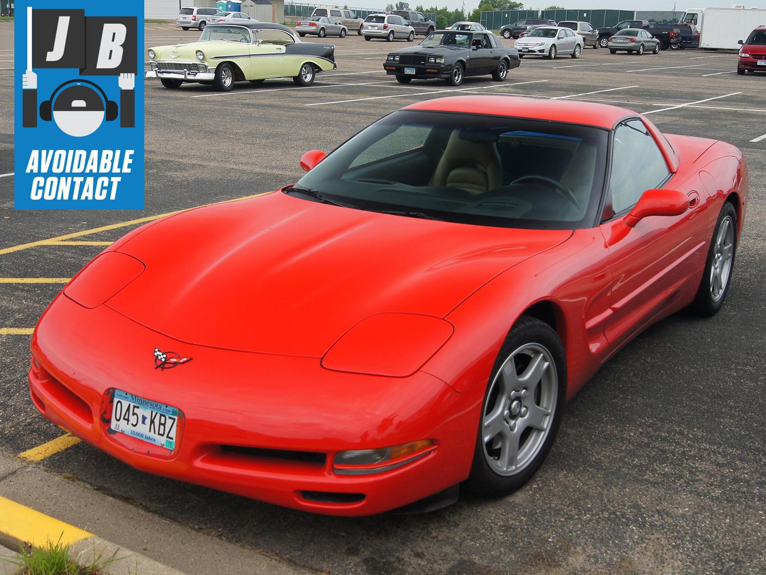 Red C5 Corvette Front Three-Quarter
