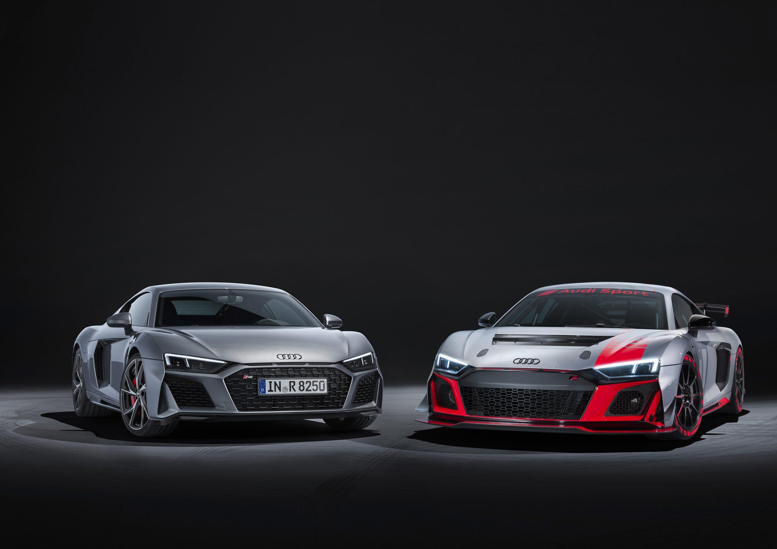 Audi R8 V10 RWD and Audi R8 LMS GT4
