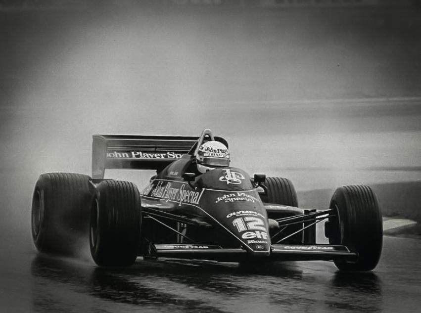 Ayrton Senna racing in the Estoril GP 1985