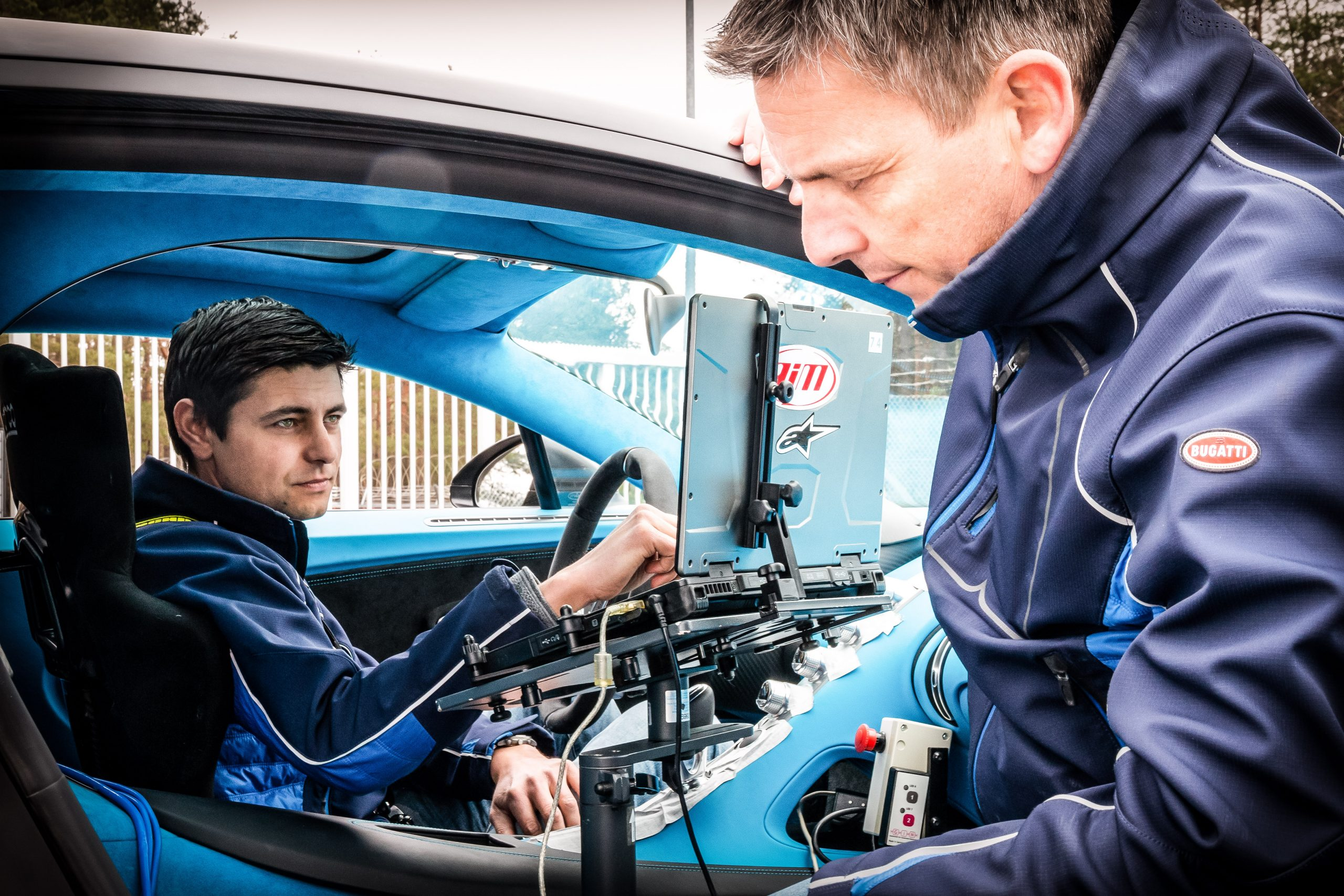 Bugatti Chiron Development Sven Bohnhorst laptop