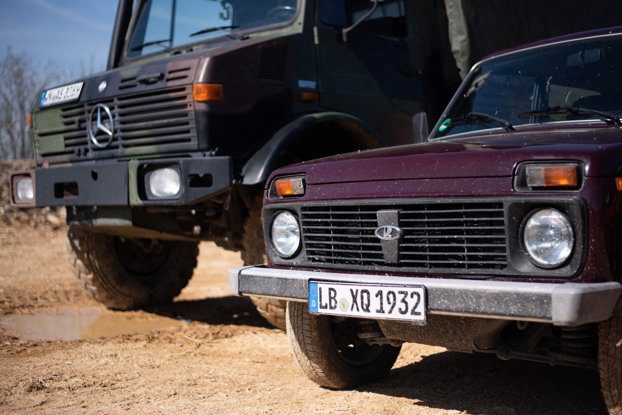unimog-lada-niva-side-by-side-quarry-dirt