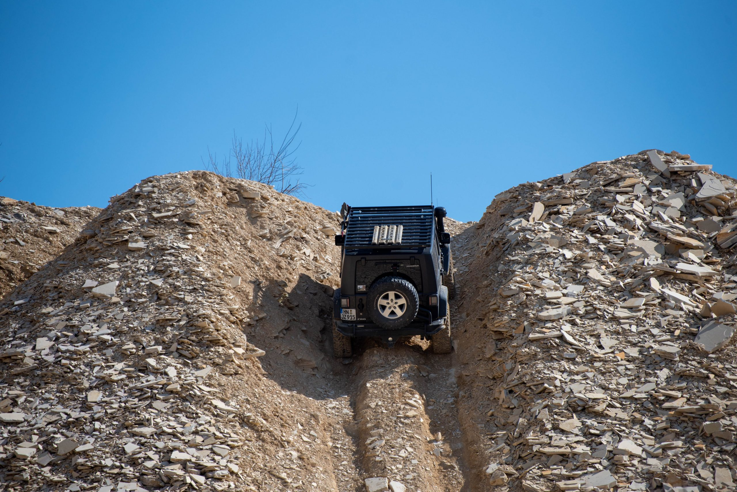 jeep crd wrangler euro spec quarry off road uphill