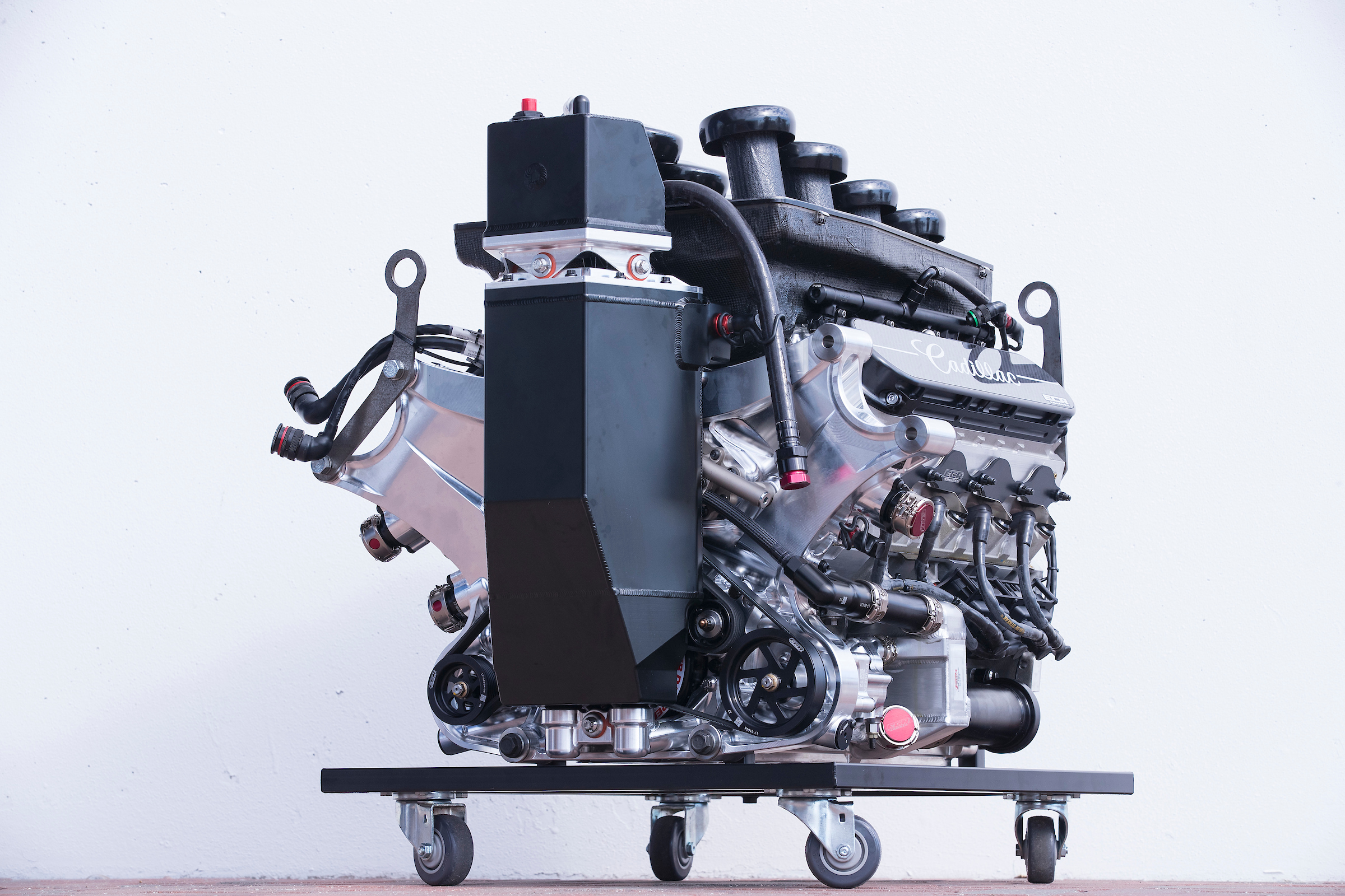 Cadillac ECR V8 Engine On Dolly