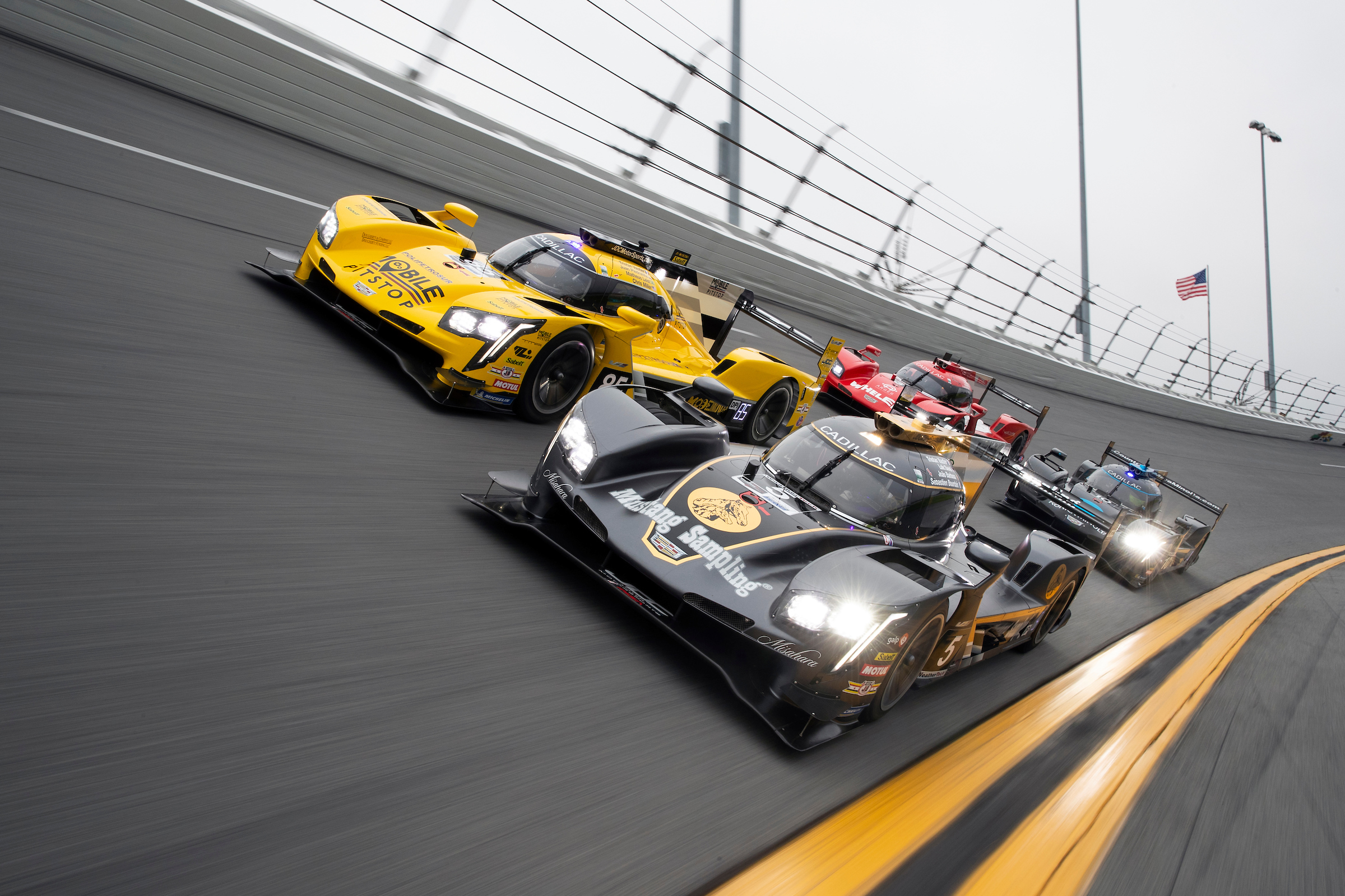 Four Cadillac DPi-VR Cars Track Action
