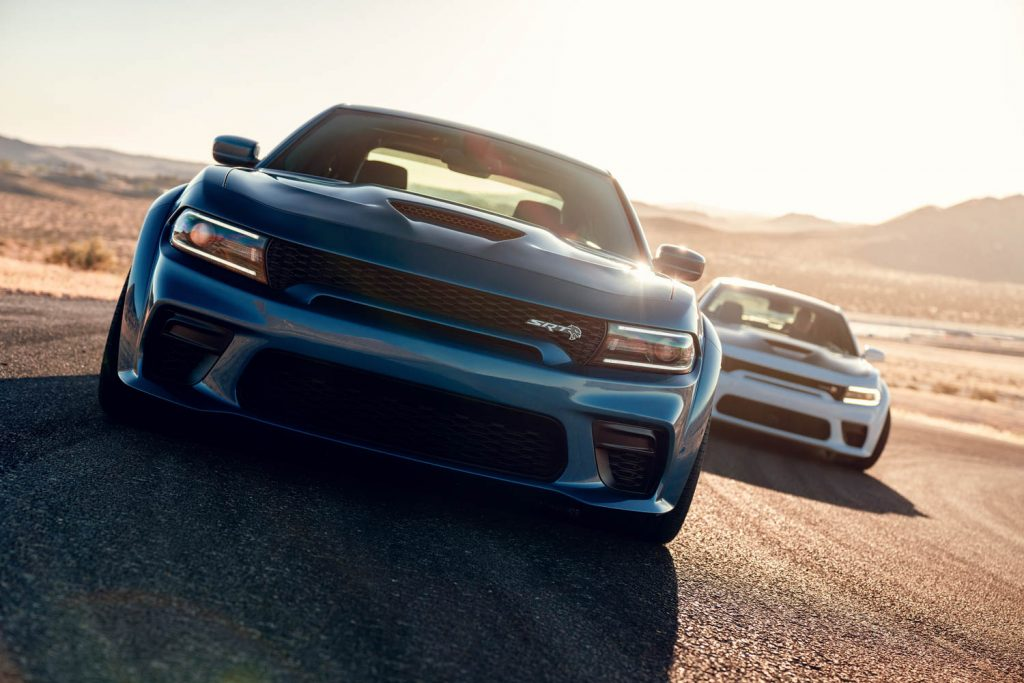 2020 Dodge Charger SRT Hellcat Widebody (Front) and 2020 Dodge C
