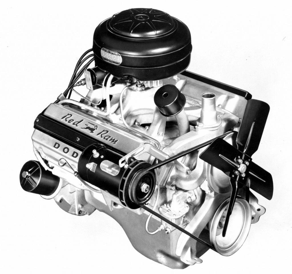 Dodge Red Ram Hemi Engine