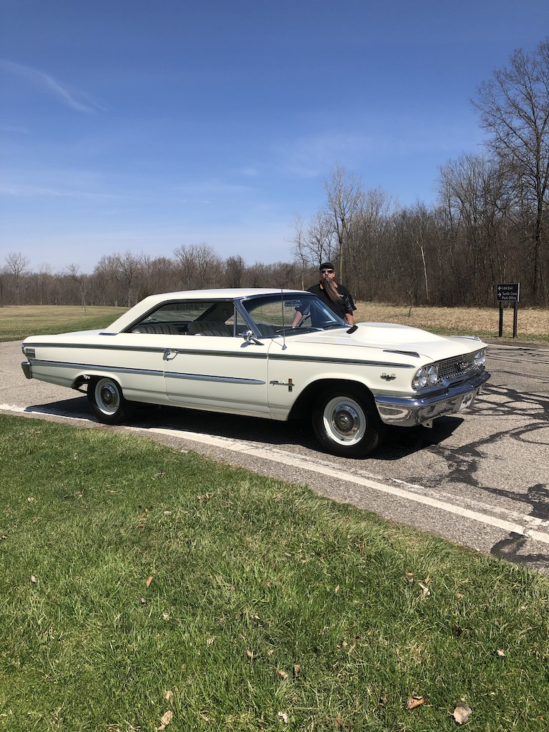 Ford Galaxie 500XL Front Three-Quarter with Owner Ron Herring Vertical