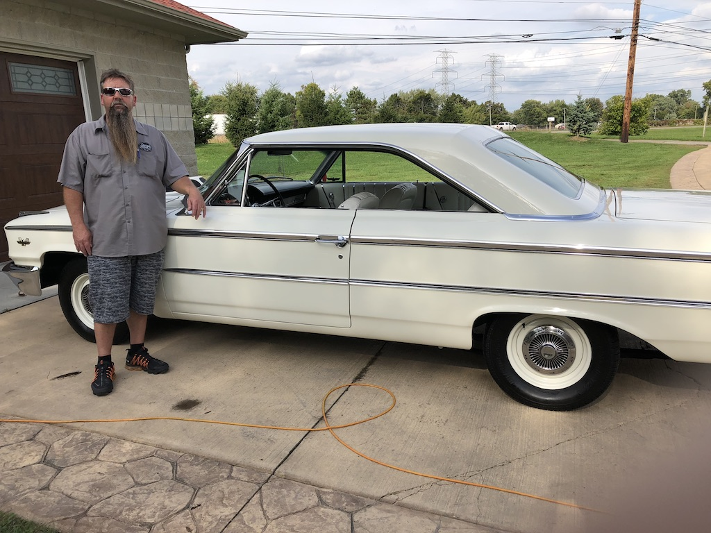 Ford Galaxie 500XL with Owner Ron Herring
