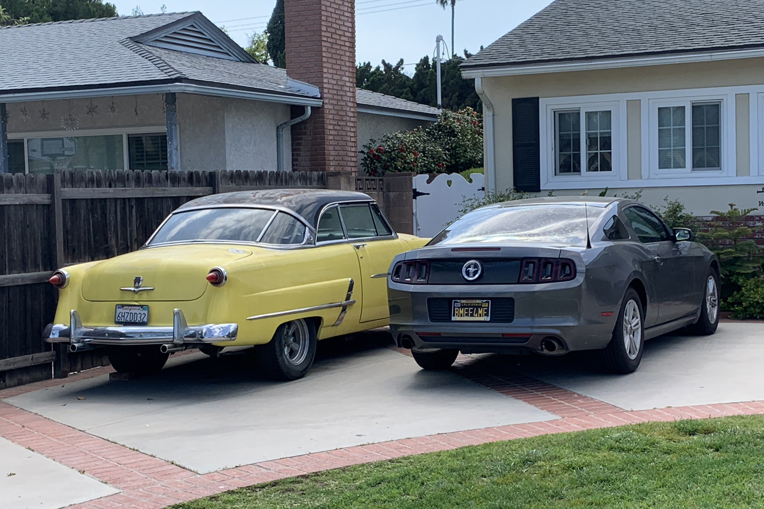 Car Spotting Fords in the Driveway