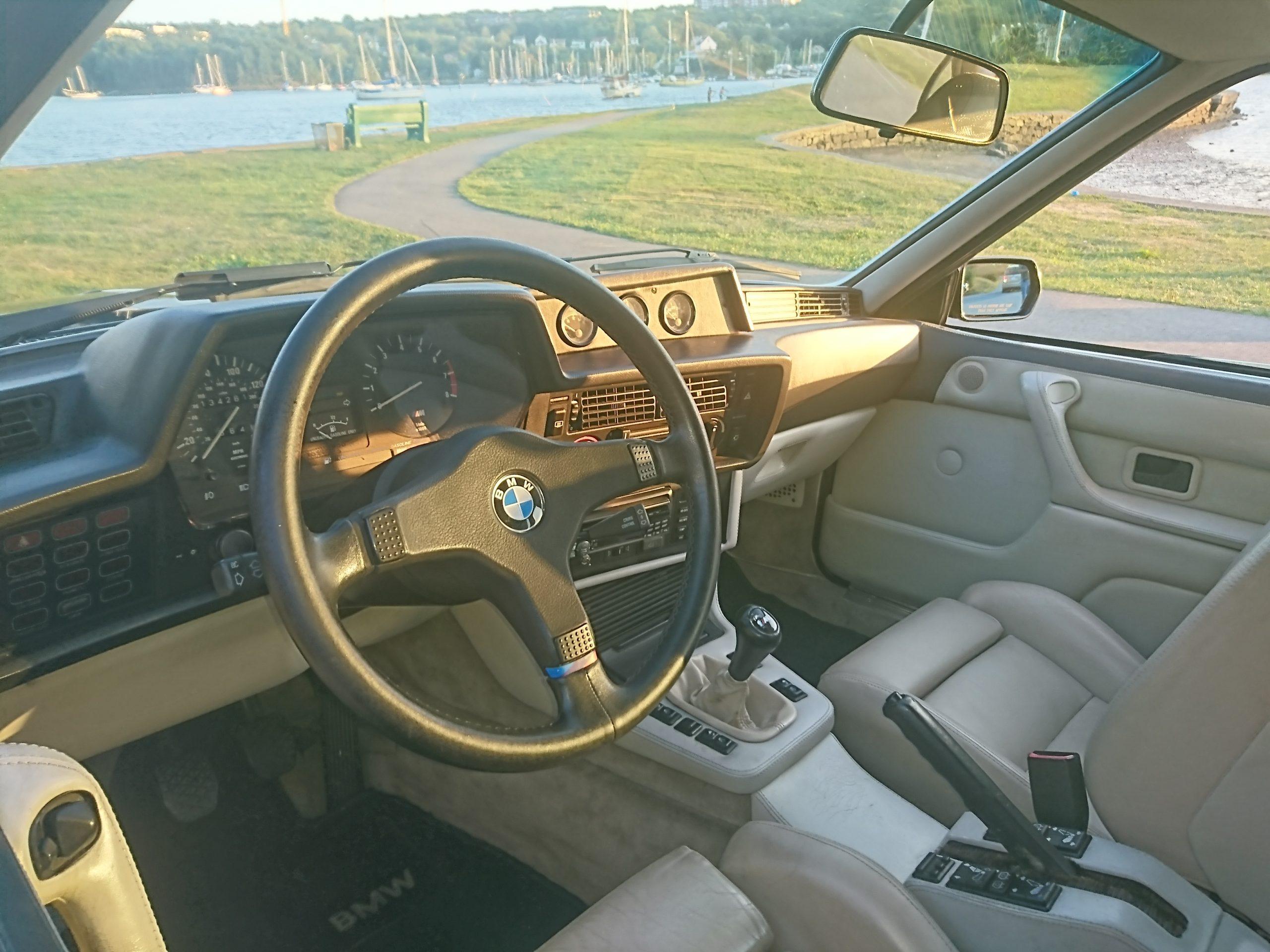 1987 BMW M6 Dinan interior