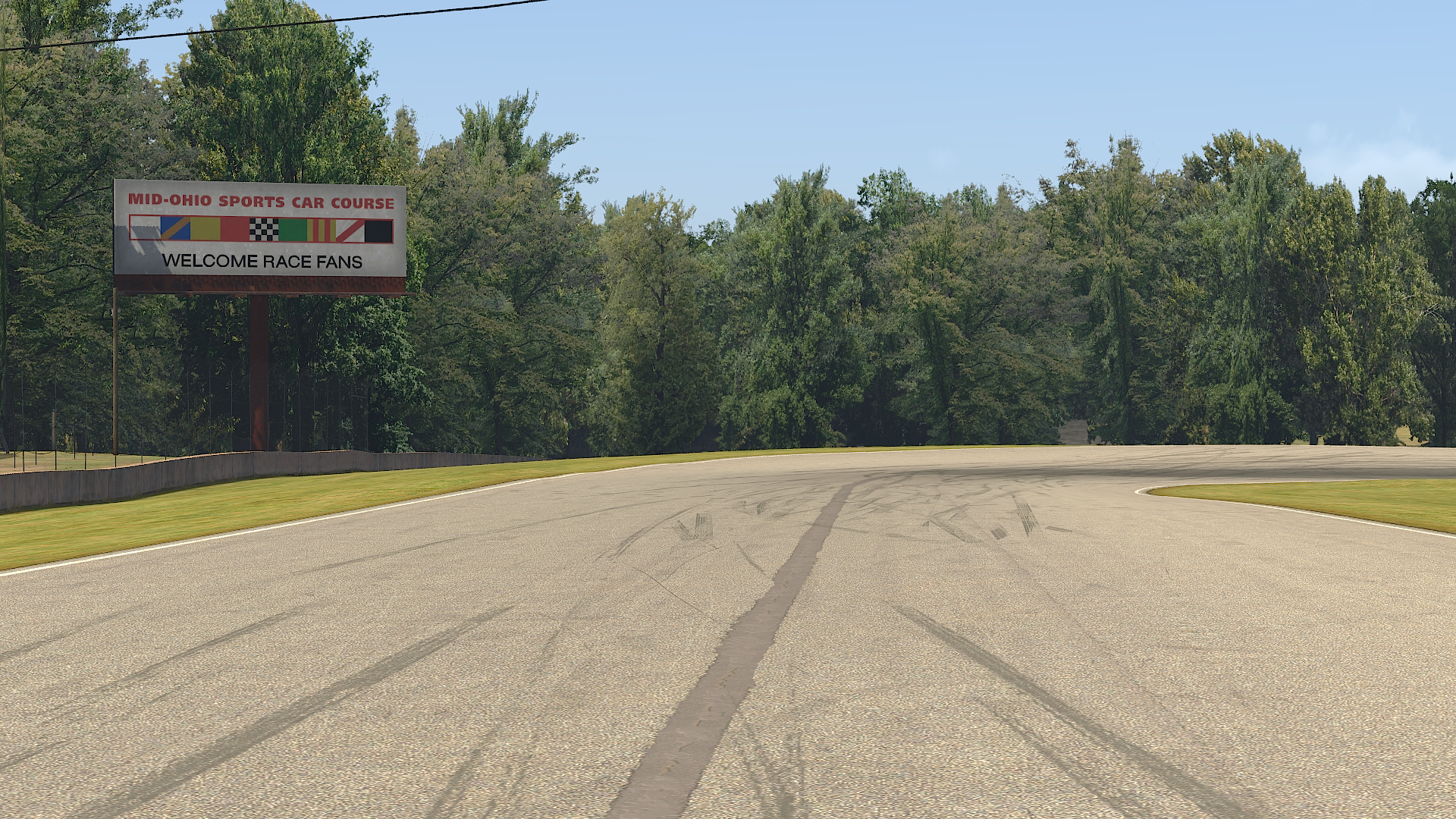 iRacing Mid Ohio Race Track