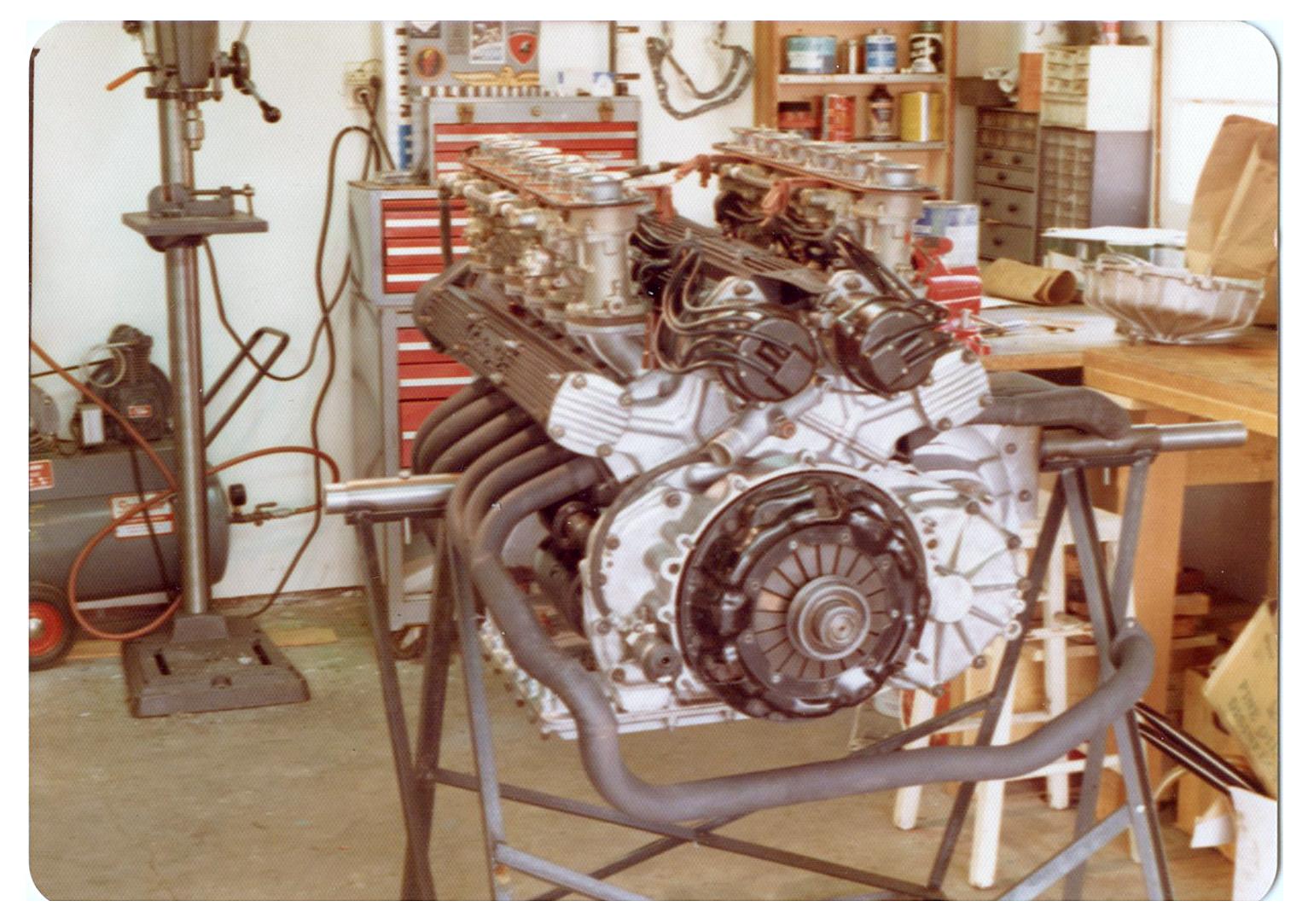 1968 Miura engine pulled