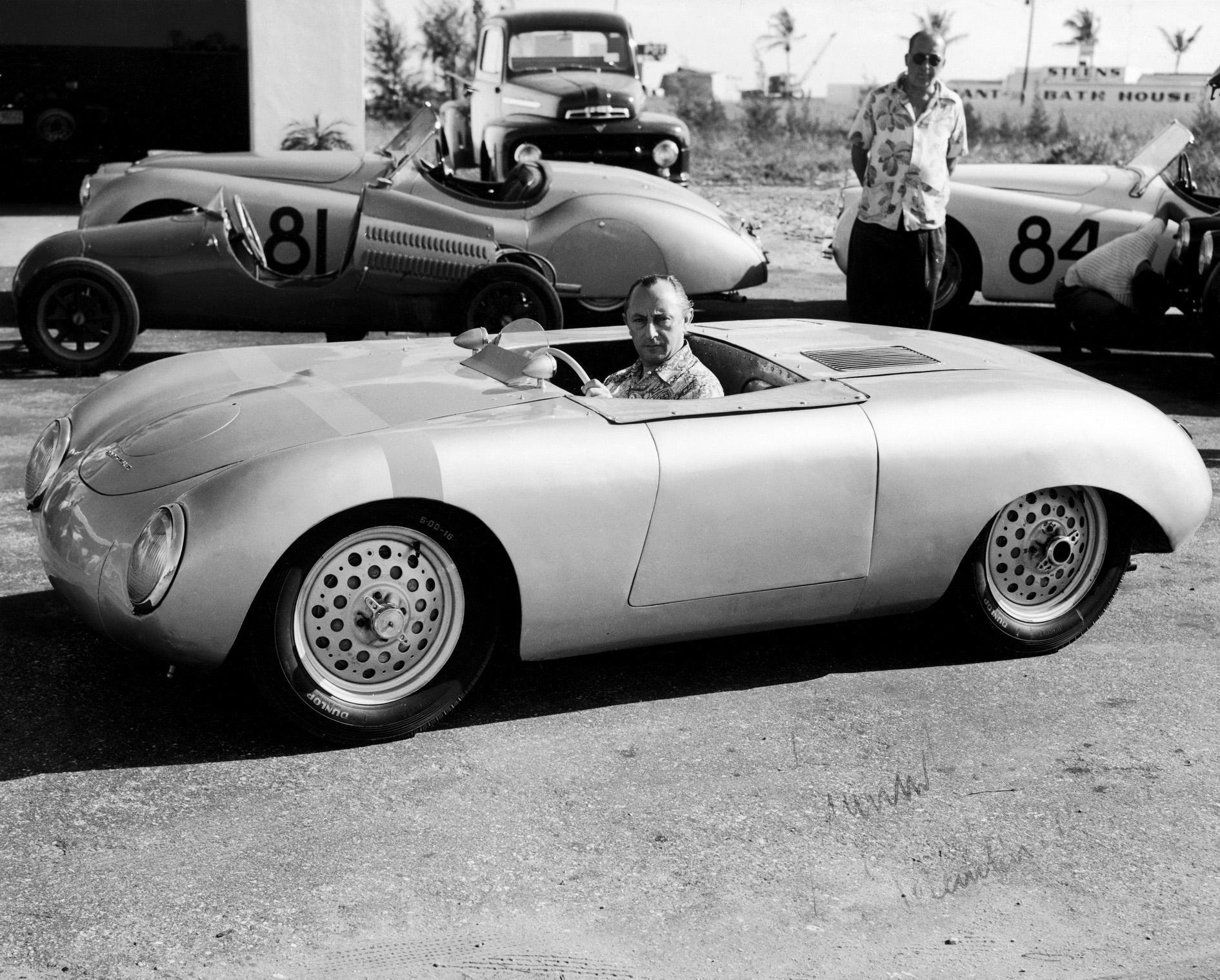 Max Hoffman in a Glöckler-Porsche