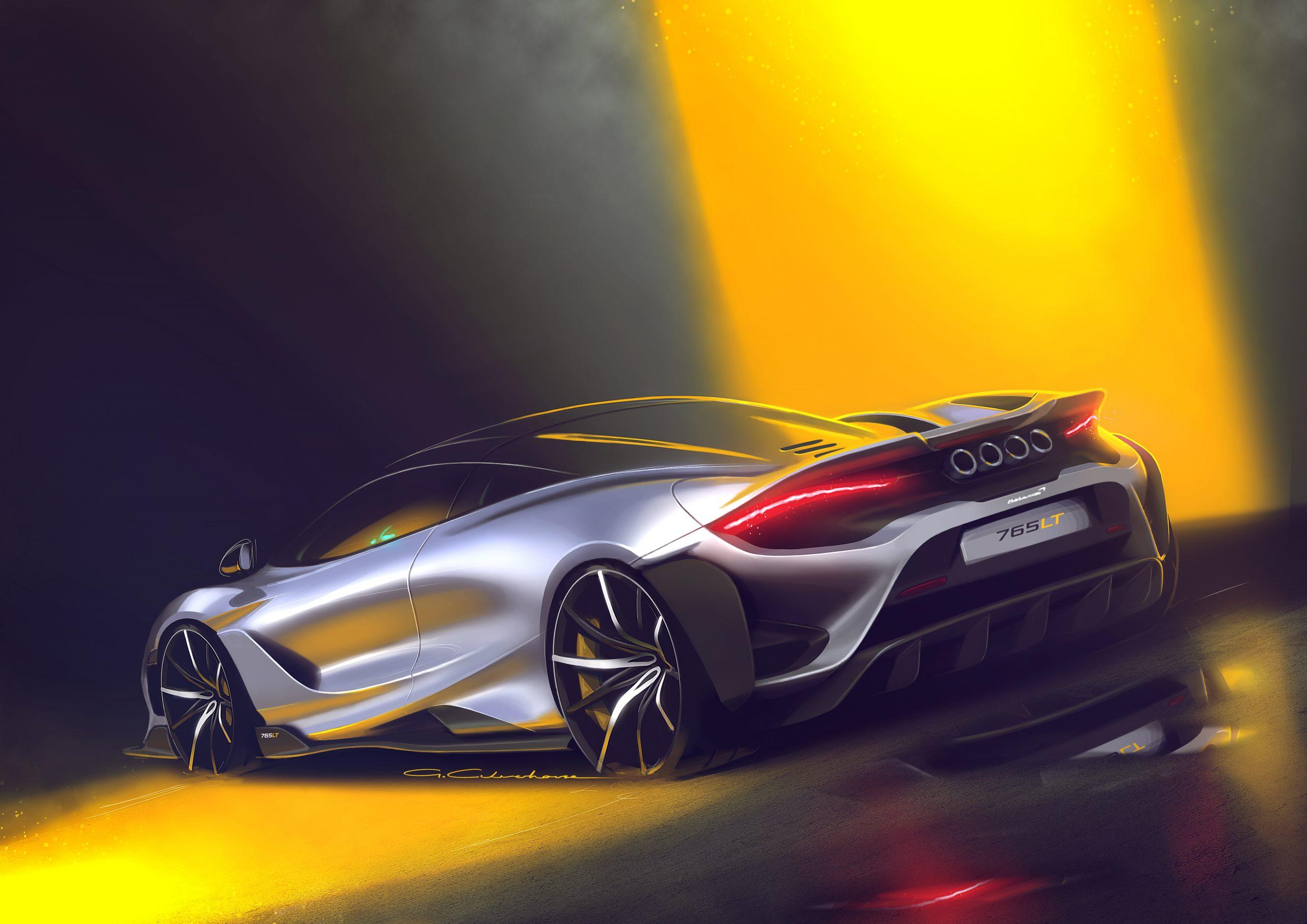 McLaren 765LT sketch 1