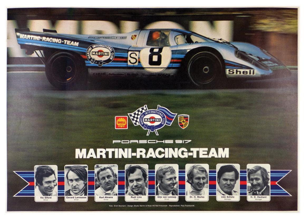 1970 Porsche 917 Martini Racing Team
