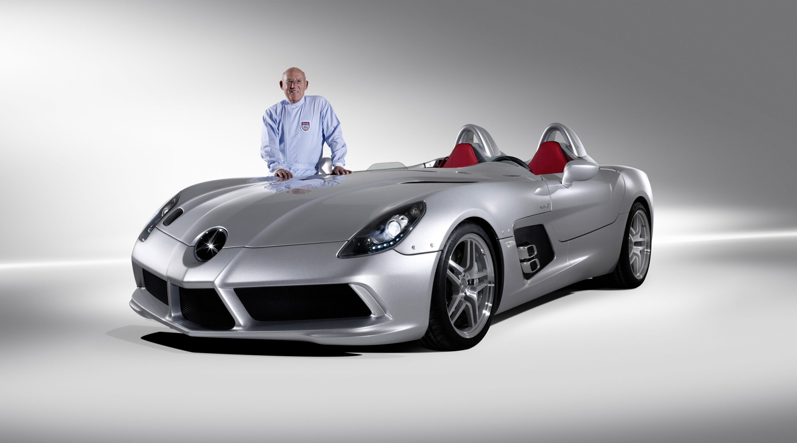 Sir Stirling Moss Mercedes Benz Front Three-Quarter