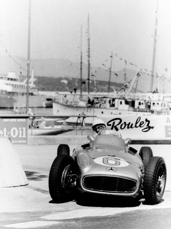 Stirling Moss in the Mercedes-Benz W 196